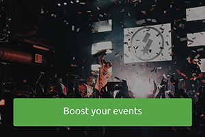 Give your events a boost, get visibility and sell more tickets